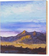 Mesa Sunset Wood Print