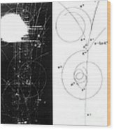 Mesons, Bubble Chamber Event Wood Print