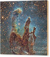 Messier 16, The Eagle Nebula In Serpens Wood Print