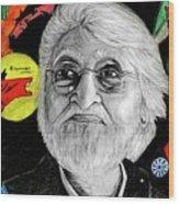 Mf Hussain Wood Print