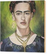 Mi Bella Frida Wood Print