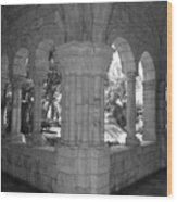 Miami Monastery In Black And White Wood Print