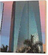 Miami Skyscraper At Sunset Wood Print