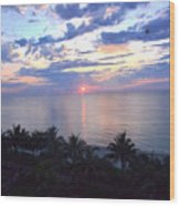 Miami Sunrise Wood Print by Pravine Chester