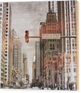 Michigan Ave - Chicago  Wood Print
