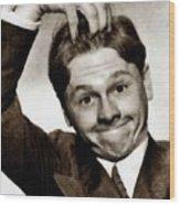 Mickey Rooney, Vintage Actor Wood Print