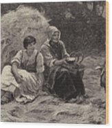 Midday Rest Wood Print