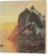 Midnattsol Lofoten Wood Print