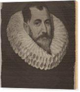 Miguel De Cervantes Wood Print