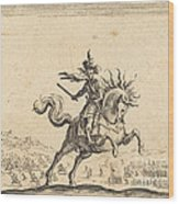 Military Commander On Horseback Wood Print