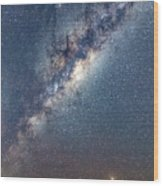 Milky Way And Mars Wood Print