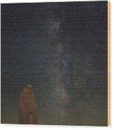 Milky Way At Trona Pinacles  Wood Print