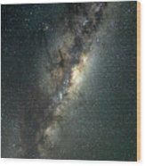 Milky Way With Mars Wood Print