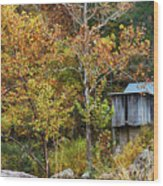 Mill In The Fall Wood Print