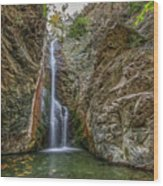Millomeris Waterfall - Cyprus Wood Print