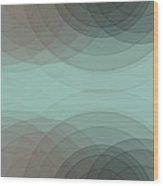 Mineral Semi Circle Background Horizontal Wood Print