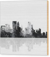 Minneapolis Minnesota Skyline Wood Print