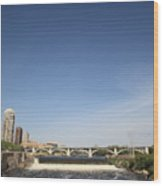 Minneapolis - Saint Anthony Falls Wood Print