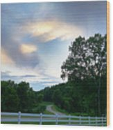 Minnesota Valley Sunset Wood Print
