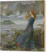 Miranda Wood Print by John William Waterhouse