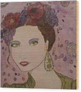 Miss Flore  Wood Print