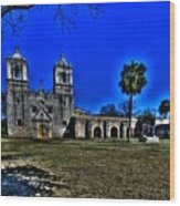 Mission Concepcion San Antonio Wood Print