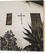 Mission Cross Wood Print