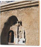 Mission San Xavier Del Bac Tohono O Odham Indian Reservation Wood Print