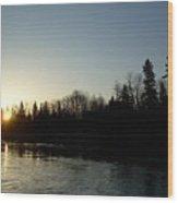 Mississippi River Sunrise Reflection Wood Print