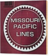 Missouri Pacific Lines Wood Print
