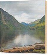 Misty Fjord Wood Print
