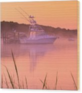 Misty Morning Osterville Cape Cod Wood Print