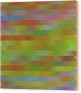 Modern Abstract Mosaic Color Combination 5 Wood Print