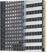 Modern High Rise Office Buildings Wood Print by Roberto Westbrook