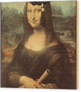 Mona Lisa  Graduation Day Wood Print