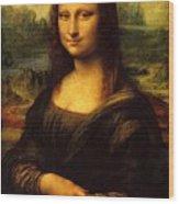 Mona Lisa Portrait Wood Print
