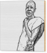 Monk Wood Print