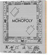 Monopoly Patent 1935 Wood Print