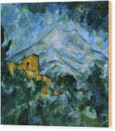 Mont Sainte-victoire And Chateau Noir Wood Print