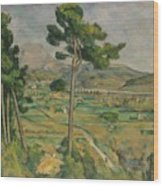 Mont Sainte-victoire And The Viaduct Of The Arc River Valley Wood Print