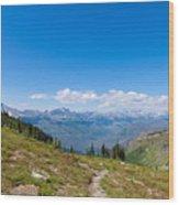 Montana-glacier National Park-highline Trail Wood Print