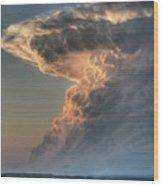 Montana Thunderstorm Wood Print