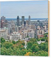 Montreal Day View Panorama Wood Print