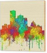 Montreal Que.skyline Wood Print
