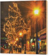 Monument Square - Portland Maine Wood Print
