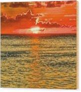 Moorea Sunset Wood Print