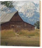 Mormon Row Barn Wood Print