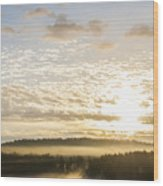 Morning At Golf Course Wood Print