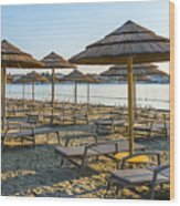 Morning Beach Wood Print