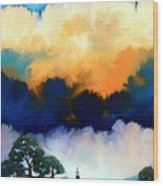 Morning In The Hill Country Wood Print